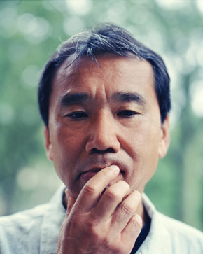 Portrait of author Haruki Murakami.
