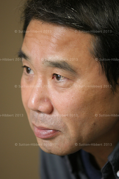 Haruki Murakami, Japanese best selling author/writer/novelist and essayist, in Tokyo, Japan, 14th December 2004.